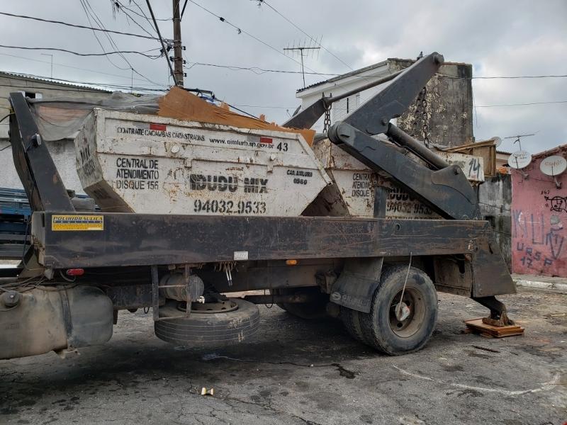 Caminhão para Caçamba de Lixo Valor Santa Cecília - Caçamba de Lixo Reciclável