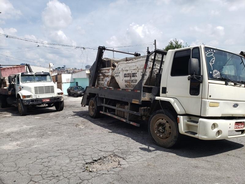 Locação de Caçamba de Entulho 24 Horas Valores Zona Sul - Locação de Caçamba de Entulho com Caminhão