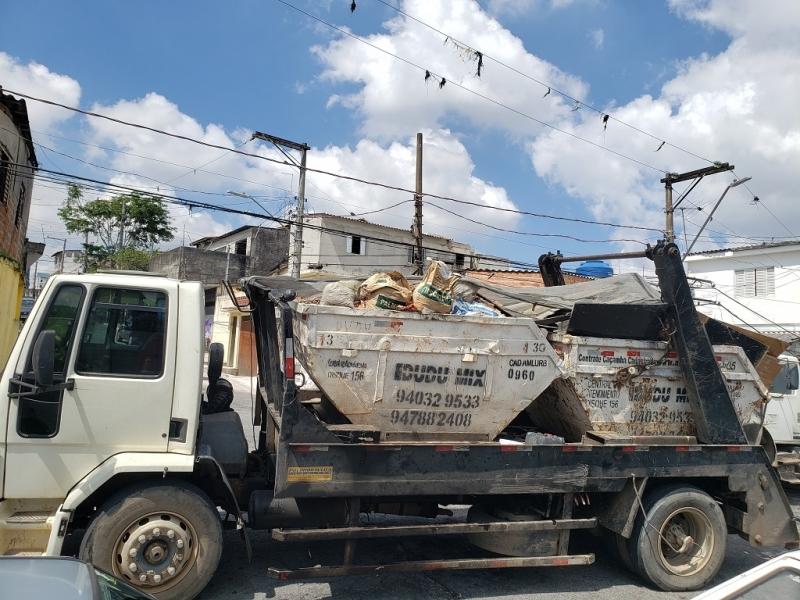 Locação de Caçamba de Entulho para Obras Liberdade - Locação de Caçamba de Entulho com Caminhão