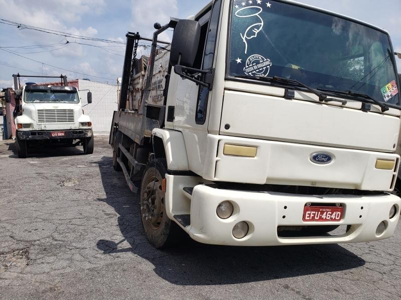 Locação de Caçambas de Entulho Luz - Locação de Caçamba de Entulho com Caminhão