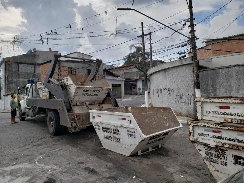 Serviço de Aluguel de Caçamba de Entulho para Obras Vila Clementina - Aluguel de Caçamba de Entulho 4m