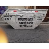 caçamba de resíduos valor Ibirapuera