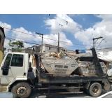 caçamba estacionária de entulho com caminhão Brás